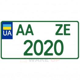 Номерной знак для электромобилей (американский формат)