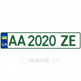 Номерной знак для электромобилей (стандартный формат)
