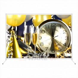 """Новогодняя фотозона """"Часы и бокалы шампанского"""""""