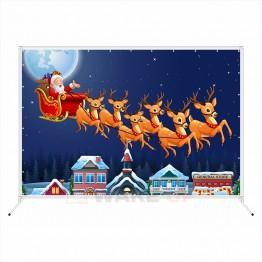 """Новогодняя фотозона """"Санта клаус с оленями"""""""