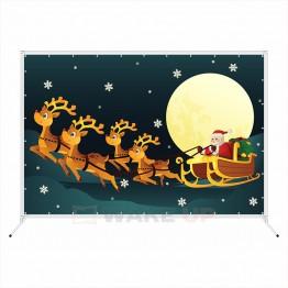 """Новогодняя фотозона """"Дед мороз с оленями"""""""