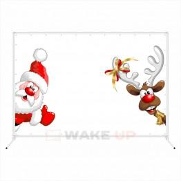 """Новогодняя фотозона """"Дед мороз и смешной олень"""""""