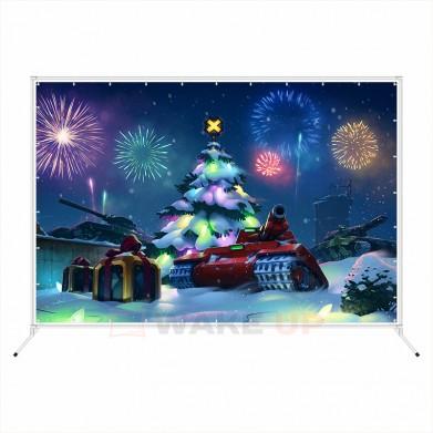 """Новогодняя фотозона """"Елка с танками"""""""