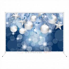 """Новогодняя фотозона """"Белые шары и звезды"""""""