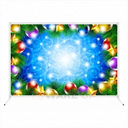 """Новогодняя фотозона """"Цветные новогодние шары"""""""