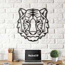 """Объемная 3D картина из дерева """"Tiger Face"""""""