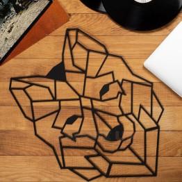 """Объемная 3D картина из дерева """"Волк"""""""