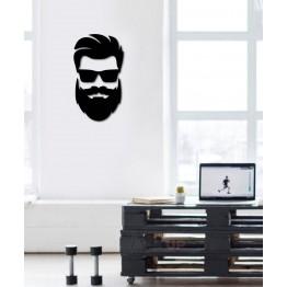 "Объемная 3D картина из дерева ""BeardMan"""