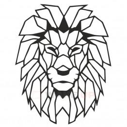 """Объемная 3D картина из дерева """"Лев - царь зверей"""""""