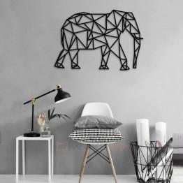 """Объемная 3D картина из дерева """"Слон"""""""