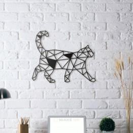 """Объемная 3D картина из дерева """"Кот на прогулке"""""""