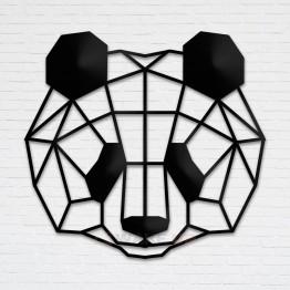 """Объемная 3D картина из дерева """"Panda Face"""""""