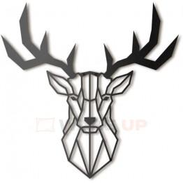 """Объемная 3D картина из дерева """"Благородный олень"""""""