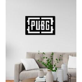 """Объемная 3D картина из дерева """"PUBG"""""""