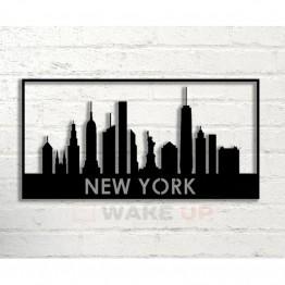 "Объемная 3D картина из дерева ""New York City"""