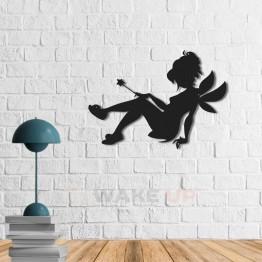 """Объемная 3D картина из дерева """"Маленькая фея"""""""