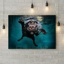 """Картина на холсте """"Собака-подводник"""""""