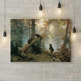 "Картина на холсте ""Утро в сосновом лесу"""