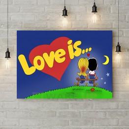 "Картина на холсте ""Love is…"""