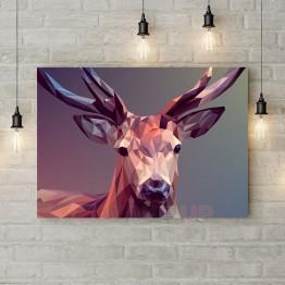 """Картина на холсте """"Благородный олень арт"""""""