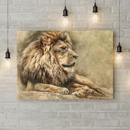 "Картина на холсте ""Мудрый лев"""