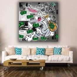 Картина на холсте Rich Bugs Bunny