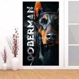 Картина на холсте Black Doberman
