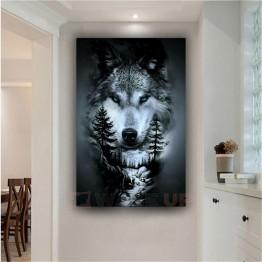 Картина на холсте Волчий лес