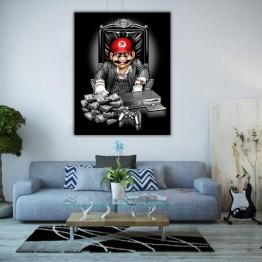 Картина на холсте Марио мафия