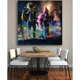 Картина на холсте Спанч Боб Гангстер