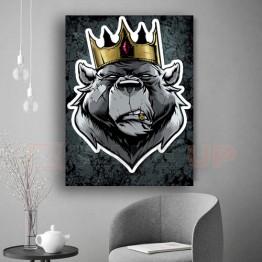 Картина на холсте Bear King