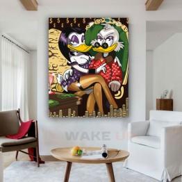 Картина на холсте Скрудж с подружкой