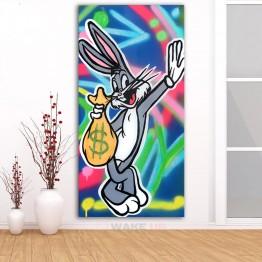 Картина на холсте Багз Банни с деньгами