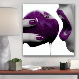 Картина на холсте Фиолетовое яблоко