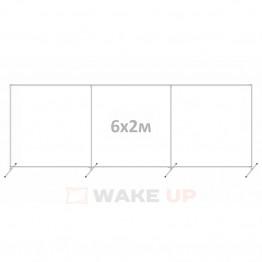 Пресс волл 6х2м с перегородкой (конструкция)