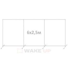Пресс волл 6х2,5м с перегородкой (конструкция)