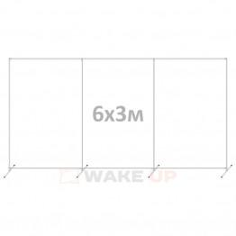 Пресс волл 6х3м с перегородкой (конструкция)